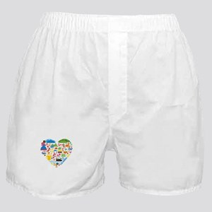 Colombia World Cup 2014 Heart Boxer Shorts