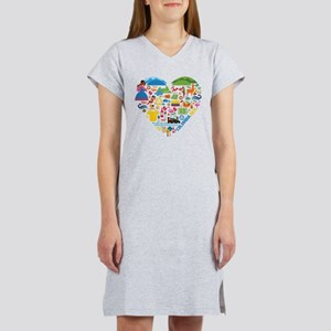 Colombia World Cup 2014 Heart Women's Nightshirt