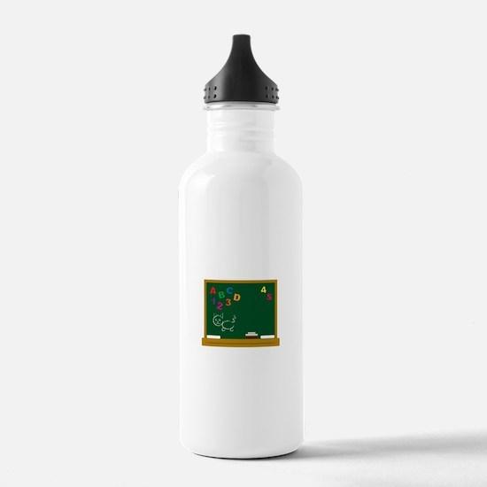 School Chalkboard Water Bottle