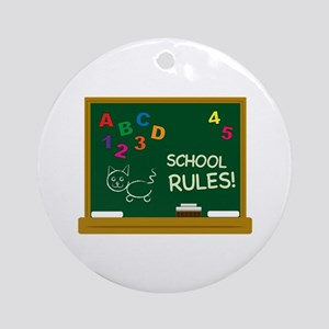 School Rules! Ornament (Round)