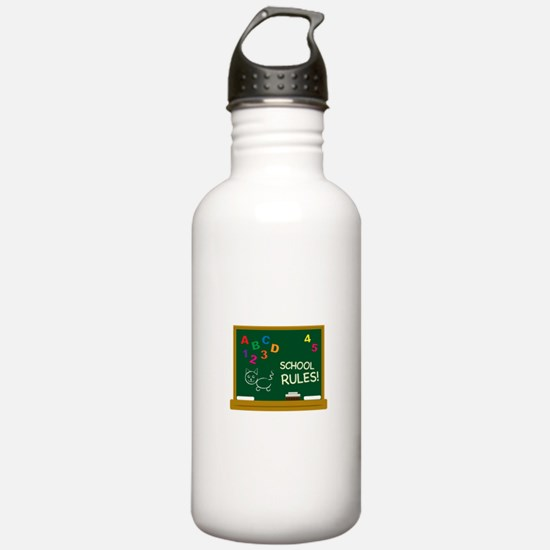 School Rules! Water Bottle