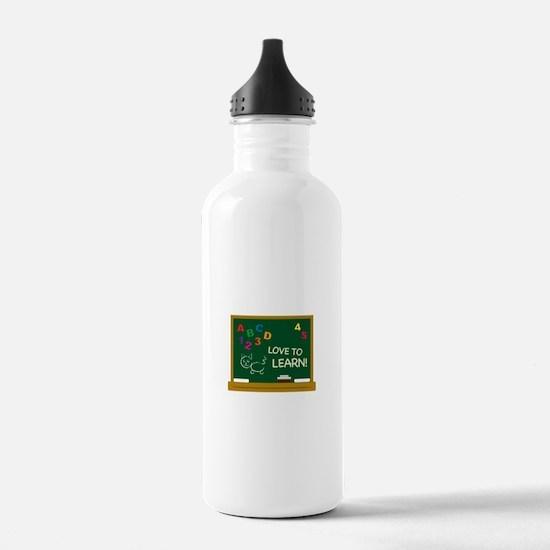 Love To Learn! Water Bottle