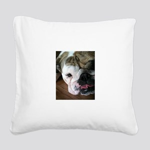 Rita Tongue 1 copy Square Canvas Pillow