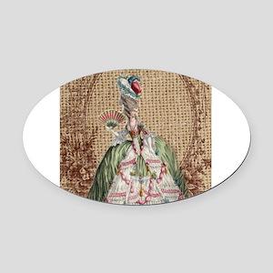 vintage marie antoinette paris fashion floral Oval