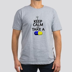 Keep Calm Take a Happy Men's Fitted T-Shirt (dark)