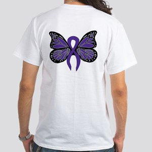 Relay For Life - Purple Ribbo White T-Shirt