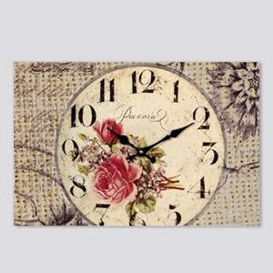 vintage paris clock french fashion decor Postcards