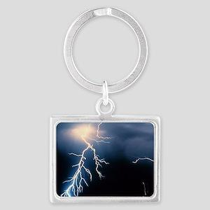 Lightning Strike Landscape Keychain