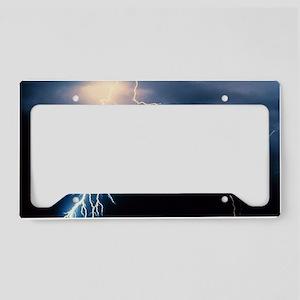 Lightning Strike License Plate Holder