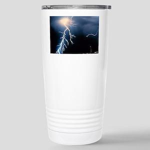Lightning Strike Stainless Steel Travel Mug