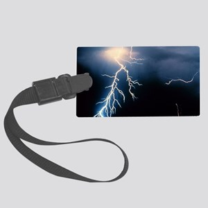 Lightning Strike Large Luggage Tag