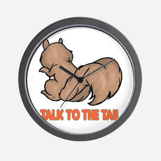 Talk to the Tail Squirrel Wall Clock