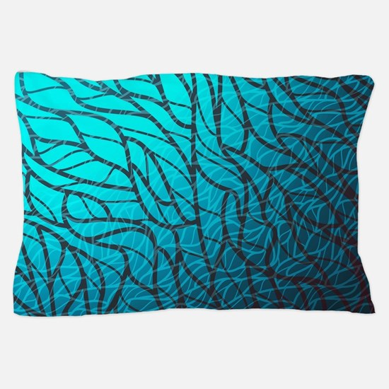 Teal Abstract Pillow Case