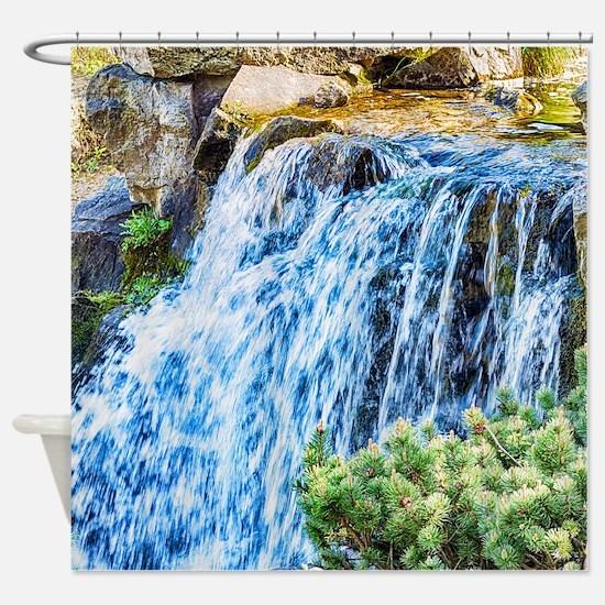 Small Waterfall Shower Curtain