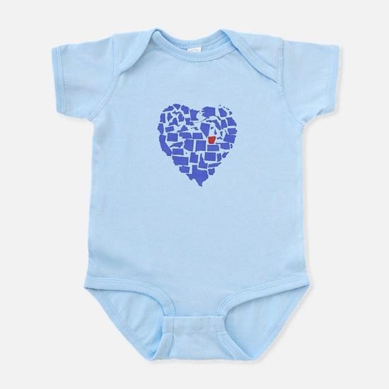 Arkansas Heart Infant Bodysuit