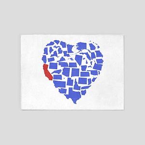 California Heart 5'x7'Area Rug