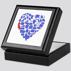 California Heart Keepsake Box