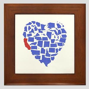 California Heart Framed Tile