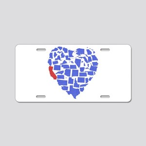 California Heart Aluminum License Plate