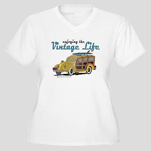 enjoying the vintage life woodie Plus Size T-Shirt