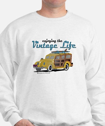 enjoying the vintage life woodie Sweatshirt