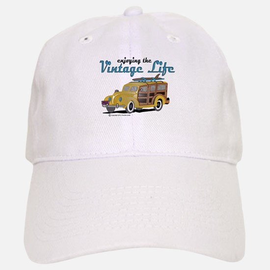 enjoying the vintage life woodie Baseball Baseball Cap