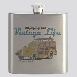 enjoying the vintage life woodie Flask