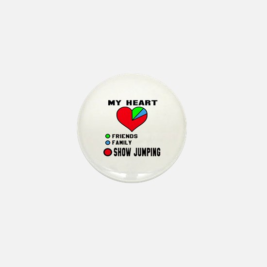 My Heart Friends, Family and Show Jump Mini Button