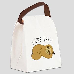 I Like Naps - Napping Sloth Canvas Lunch Bag