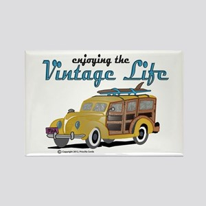 enjoying the vintage life woodie Magnets