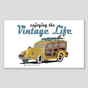 enjoying the vintage life woodie Sticker