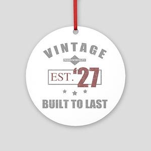 Vintage 1927 Birth Year Round Ornament