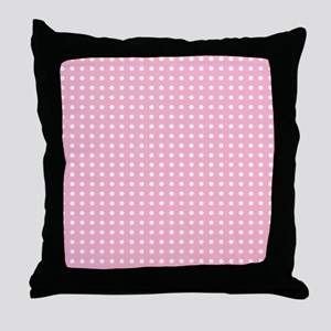Pink with White Dots Throw Pillow