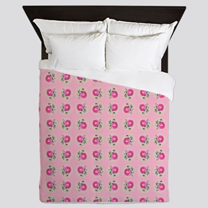 Pink Roses on Pink Queen Duvet
