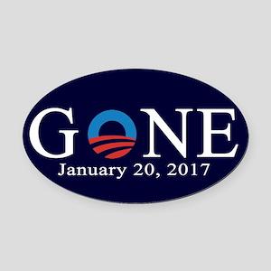 Obama Gone 2017 Oval Car Magnet