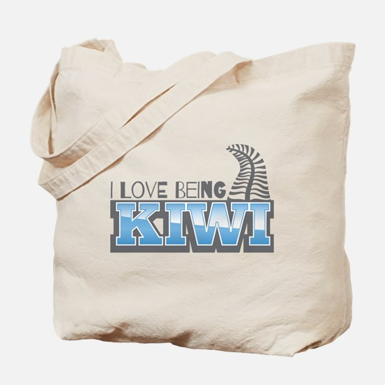 I love being KIWI with silver fern Tote Bag
