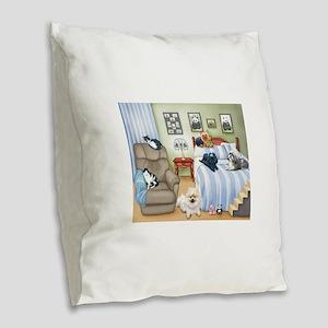 The Schofield's Bedroom Burlap Throw Pillow