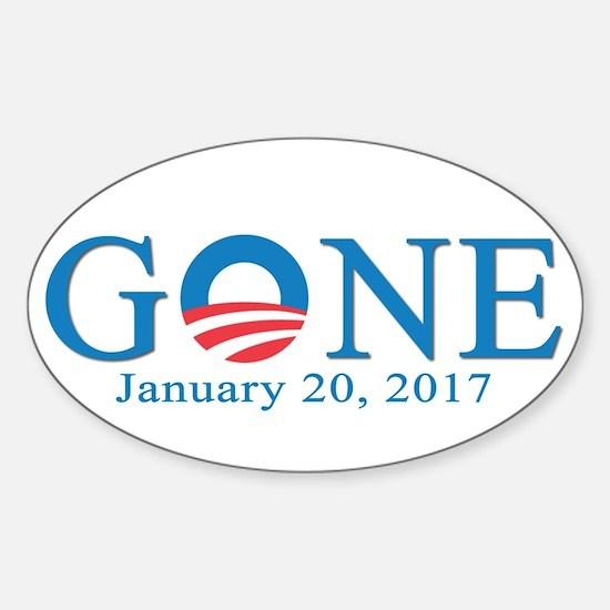 Barack Obama Gone Decal