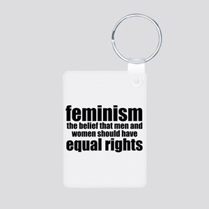 Feminist Aluminum Photo Keychain