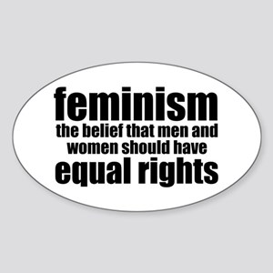 Feminist Sticker (Oval)
