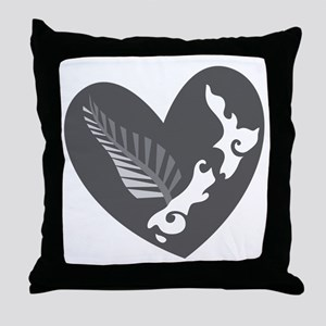 Love heart KIWI silver fern New Zealand Throw Pill