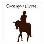 """Horse Design By Chevalin Square Car Magnet 3"""""""