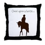 Horse Design by Chevalinite Throw Pillow