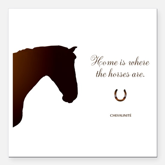 "Horse Design by Chevalin Square Car Magnet 3"" x 3"""