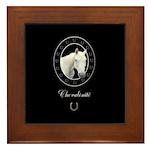 Horse Design by Chevalinite Framed Tile