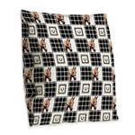 Horse Design by Chevalinite Burlap Throw Pillow