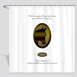 Horse Design by Chevalinite Shower Curtain