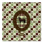 Horse Design by Chevalin Square Car Magnet 3