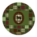 Horse Design by Chevalinite Round Car Magnet