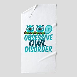 Pretty Owl Beach Towel